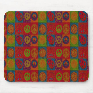 Wild Peace Signs Mousepad Retro Abstract Modern