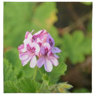 Wild Pink Geranium. Cloth Napkin