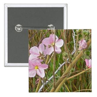 Wild Pink Hibiscus in Salt Marsh Items 15 Cm Square Badge