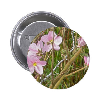 Wild Pink Hibiscus in Salt Marsh Items 6 Cm Round Badge