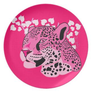 Wild Pink Jaguar Hot Pink Background Plates