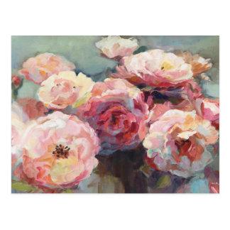 Wild Pink Roses Postcard