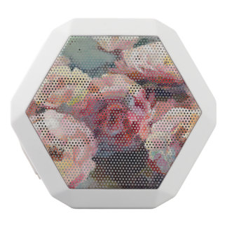 Wild Pink Roses White Bluetooth Speaker