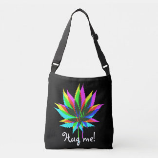 Wild Plant Leafs - neon colored + your ideas Crossbody Bag