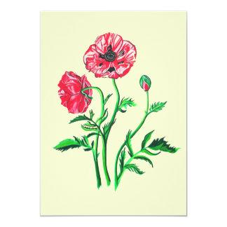 Wild Poppies Personalized Invite