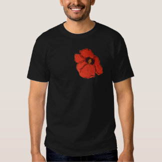Wild Poppy Remembrance Day T-Shirts