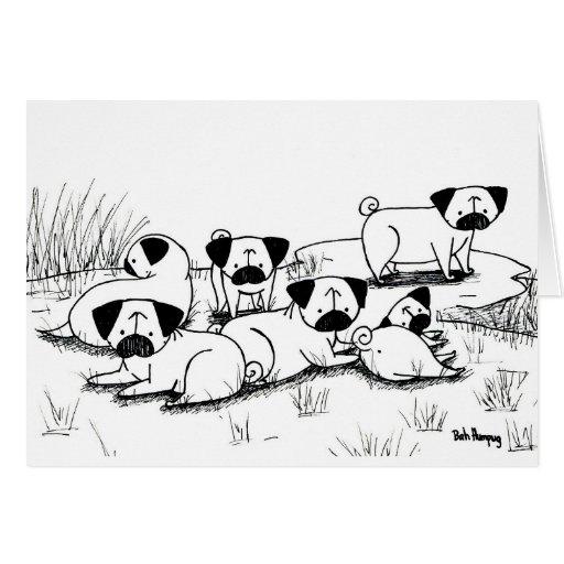 Wild Pug Grumble Cards