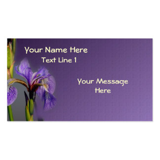 Wild Purple Blue Flag Iris Flower Double-Sided Standard Business Cards (Pack Of 100)