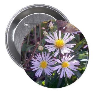 Wild Purple Daises Button