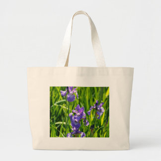 Wild Purple Iris Digital Photograph Tote Bag