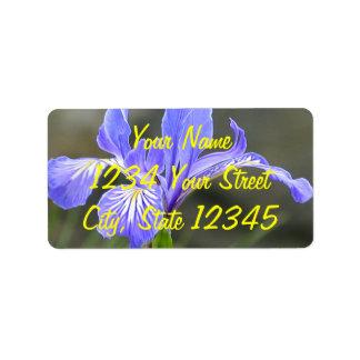 Wild Purple Iris Label