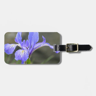 Wild Purple Iris Luggage Tag
