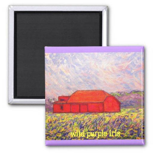 wild purple iris slogan magnet