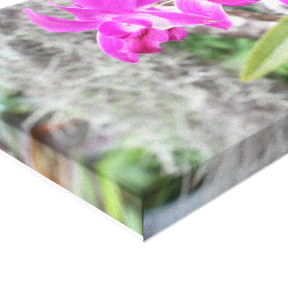 wild purple orchid canvas print