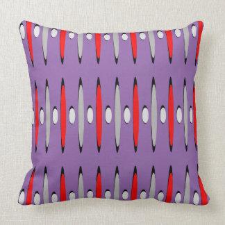 Wild Purple Red Retro Modern Urban Contemporary Cushion