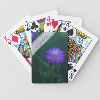 Wild purple vygie flower bicycle playing cards