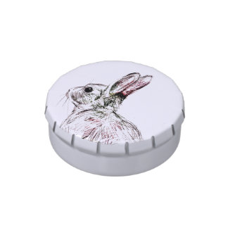 wild rabbit candy jars and tins candy tin