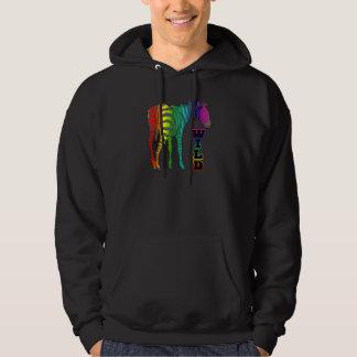 wild rainbow zebra hoodie
