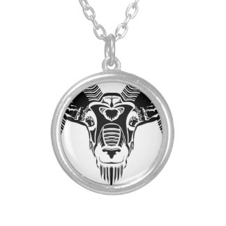 wild ram silver plated necklace