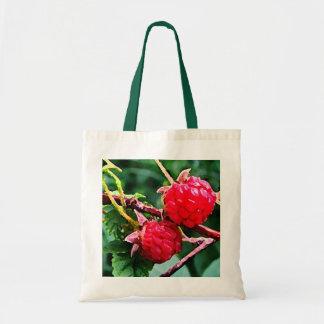 Wild Raspberries Budget Tote Bag