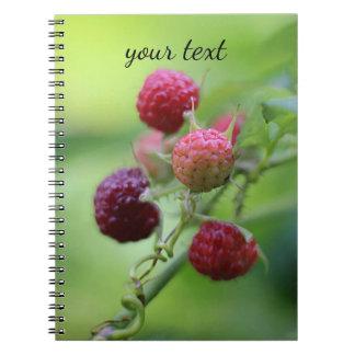 Wild Raspberries Spiral Notebooks