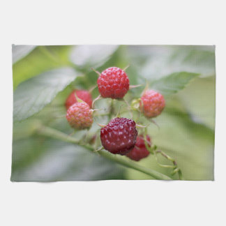 Wild Raspberries Tea Towel