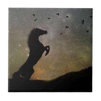 Wild Rearing Horse Art Tile