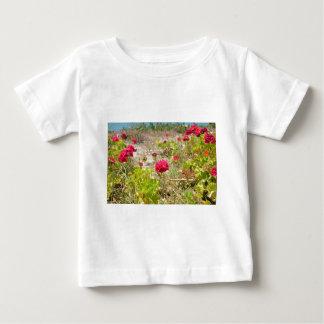 Wild Red Geraniums Baby T-Shirt