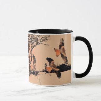 Wild Red Kites in the Landscape Mug