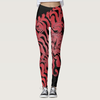 Wild red leggings
