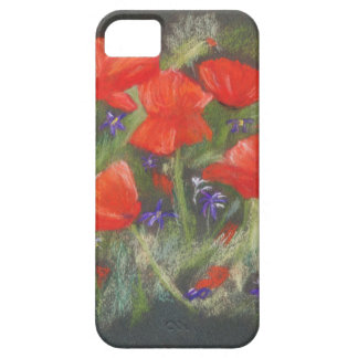 Wild red poppies display barely there iPhone 5 case