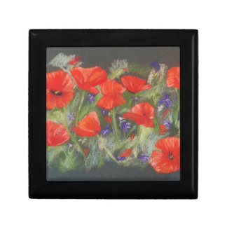 Wild red poppies display gift box