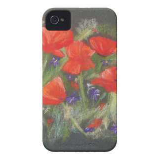 Wild red poppies display iPhone 4 Case-Mate cases