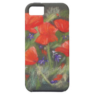 Wild red poppies display iPhone 5 cover