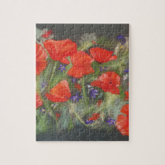Wild red poppies display jigsaw puzzle