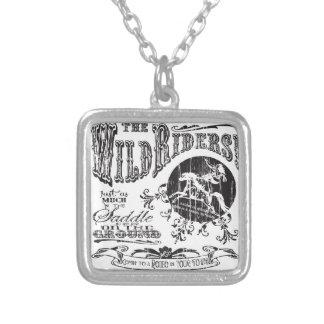 Wild Riders Silver Square Necklace
