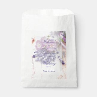 Wild Rose & Lavender Summer Flower  Wedding Favour Bag