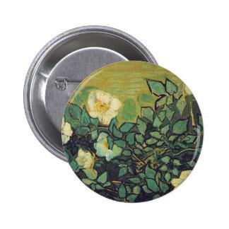 Wild Roses 1890 Vincent van Gogh Pinback Button