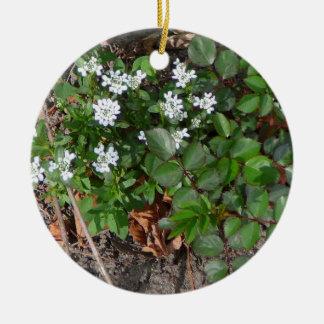 Wild Roses & Alyssum Ornament