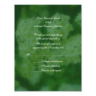 Wild Roses Floral Wedding Response RSVP 4.25x5.5 Paper Invitation Card