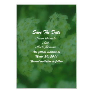 """Wild Roses Floral Wedding Save The Date 5"""" X 7"""" Invitation Card"""