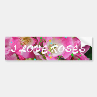 Wild Roses Wedding Bouquet Greeting Cards Bumper Sticker