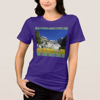 Wild Running Horses in Yosemite National Park T-Shirt