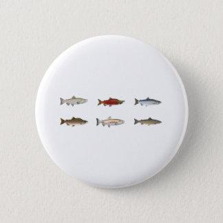Wild Salmon 6 Cm Round Badge