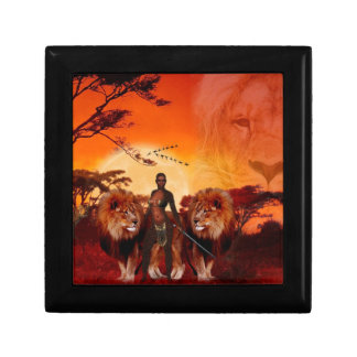 Wild Savanna Small Square Gift Box