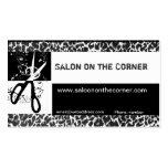 Wild Scissors Leopard Print Salon Business Cards