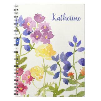 Wild Scottish Flowers Personalised Spiral Notebook