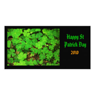 Wild Shamrocks Card