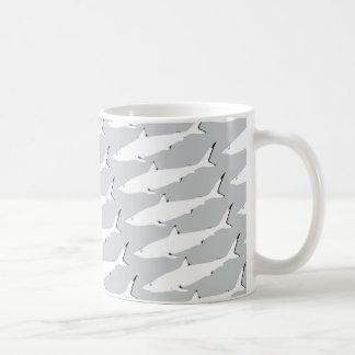 wild sharks pattern coffee mug