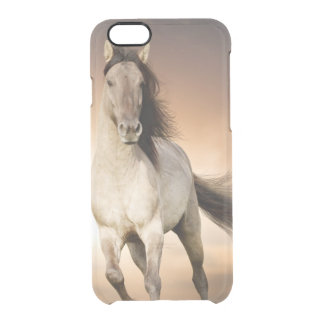 Wild Stallion Running In Sunset Clear iPhone 6/6S Case